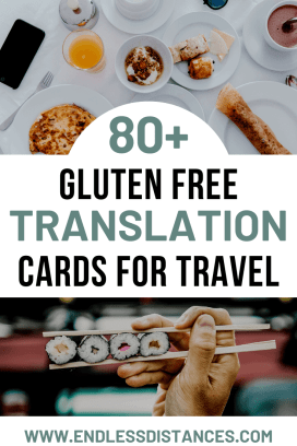 Gluten free travel just got easier! This resource list includes gluten free translation card options in 80+ languages. Each one is celiac safe. Gluten free translation card | gluten free travel | gluten free | food allergy | allergy | celiac | celiac travel | gluten free travel card | gluten free restaurant card | #glutenfreetravel #glutenfreetranslationcard #gluten #travel #allergy #celiac #celiactravel