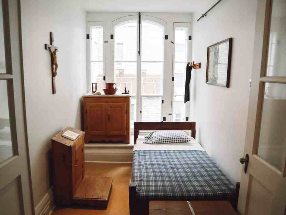 Nun's room at le Monastere des Augustines
