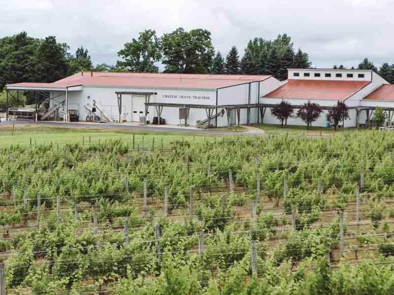 Chateau Grand Traverse winery on Old Mission Peninsula