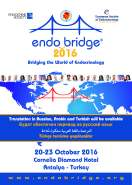 EndoBridge 2016, Antalya, Turkey, October 20-23, 2016