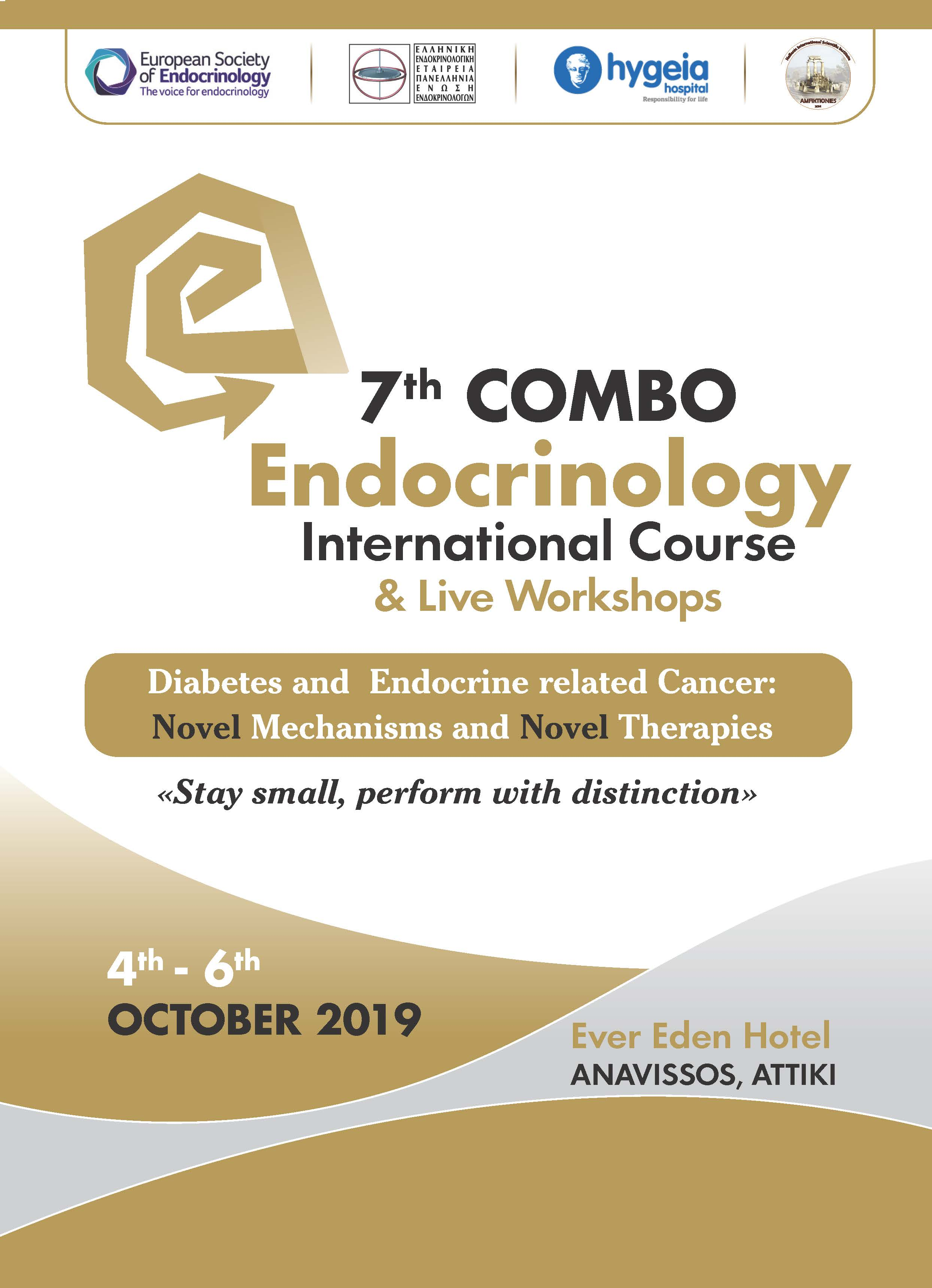 7th COMBO Endocrinology Course, 4-6/10/2019, Ever Eden Hotel