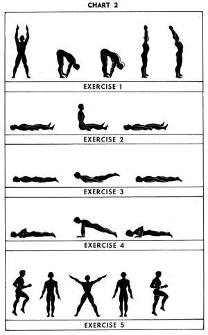 5BX Exercises Chart 2