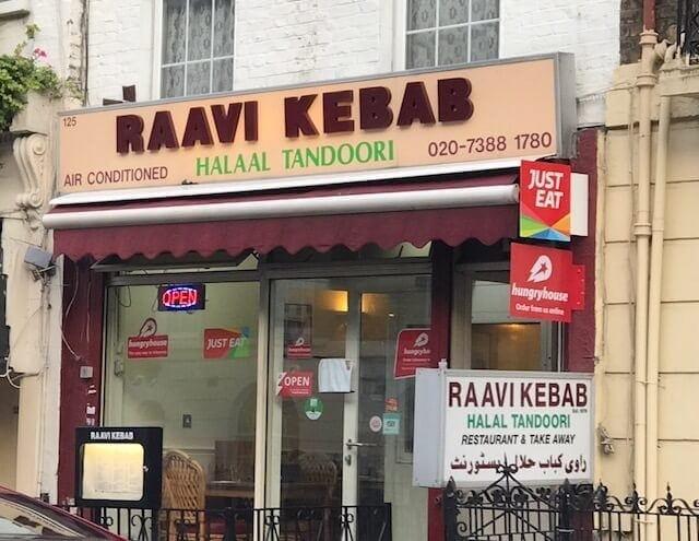 Raavi Kebab restaurant outside