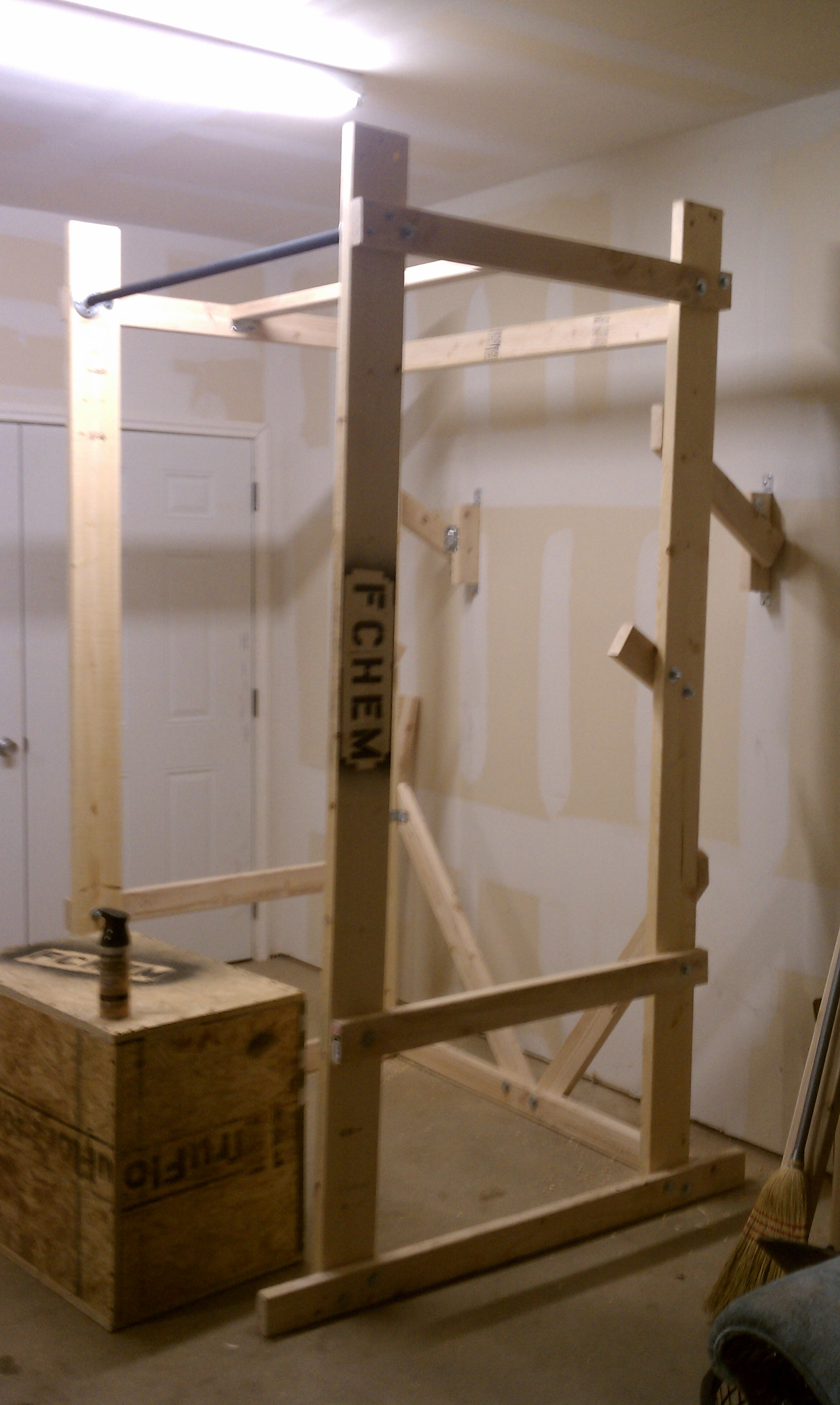 Build your own power rack end of three fitness for Homemade weight rack plans