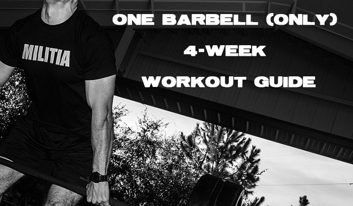 4 week one barbell workout program free barbell workout barbell workout program malvernweather Images