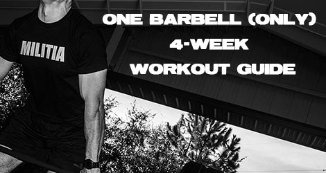 4-Week One Barbell Workout Program