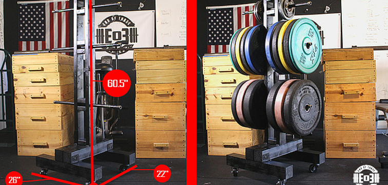 Diy weight tree bumper plate storage for the garage gym