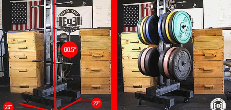 DIY Bumper Plate Storage: Weight Tree