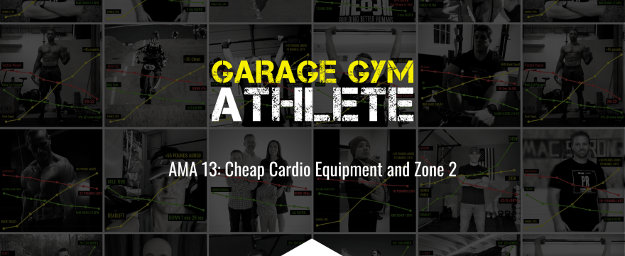garage gym, garage gym athlete, end of three, end of three fitness, cheap cardio equipment, zone 2 ask me anything