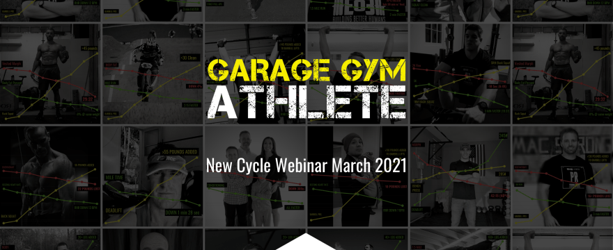 garage gym, garage gym athlete, end of three fitness, fitness, new cycle webinar march 2021, meet yourself Saturday, Eo3 Iron Mile