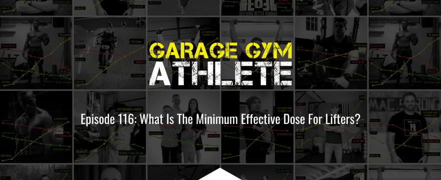 garage gym, garage gym athlete, end of three fitness, fitness, what is the minimum effective dose for lifters, nudge, heavy load long distance, meet yourself Saturday workout