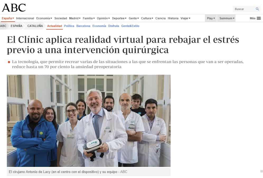 VR Patients. La aplicación de realidad virtual para pacientes de AIS Channel