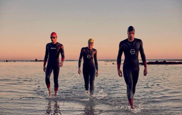Zone3 athletes in the sea