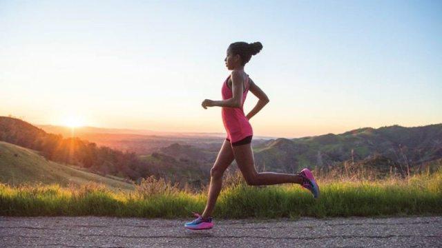 HOKA ONE ONE female runner