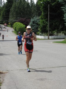 Jen Datwyler on the run at Ironman® Coeur d'Alene 2013 - Team Endurance Nation