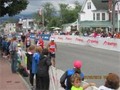 George Jordan on the run at Ironman® Lake Placid
