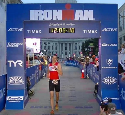 1st time Ironman® puts up a 15' negative split run!!