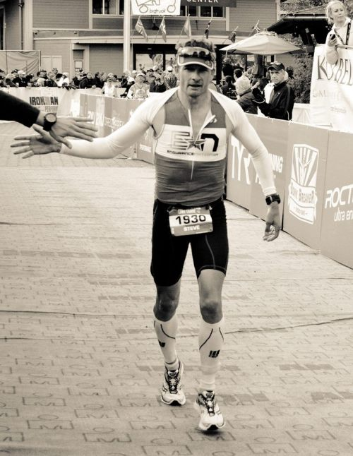 Steve Hall comes in to the finish at 2013 Ironman® Lake Tahoe