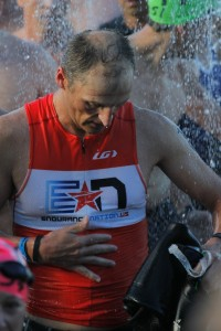 Jaime Fields rinses off at Florida 2013