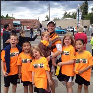 Team Levanthal on the run #ironmom!