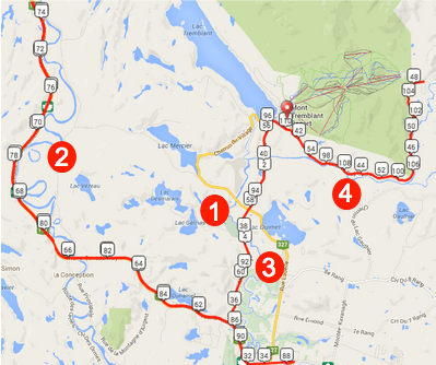 Tremblant Bike Course