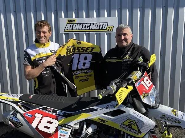 Antoine Basset rejoint Husqvarna et Atomic Moto