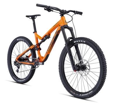 Ride - Orange brillant - 2499€, gagne au niveau des suspensions avec une Lyrik, et au freinage avec les Guide.