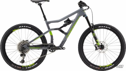 Triangle avant carbone/arrière aluminium - Poids à confirmer - 5999€ - Suspensions Fox Float Performance Elite - Roues Cannondale/WTB aluminium - Transmission SRAM XO1 Eagle - freins Sram Guide RS - Poste de pilotage Cannondale carbone