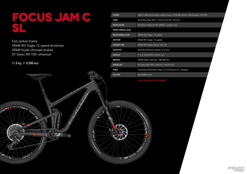 Jam C SL - 6999 euros - 11,9kg