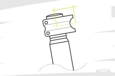 Sur le marché, les potences sont régulièrement proposées dans différentes dimensions. Notamment la longueur, qui peut varier de 35 à 70mm pour les pratiques qui nous concernent. La tendance est même à des valeurs entre 40 et 50mm actuellement. Jouer de +/- 5 à 10mm est possible sans trop modifier le comportement de la direction. Et ça permet de jouer sur le reach perçu par le pilote.