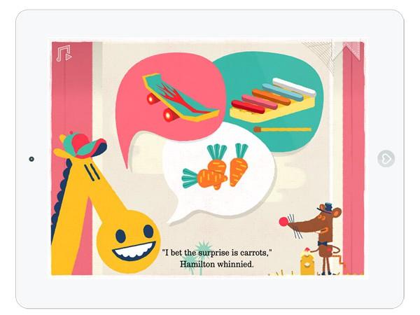 schöne Kinderbuch App: eine Geschichte über Gerüchte