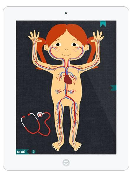 Schöne Lern App über den Körper