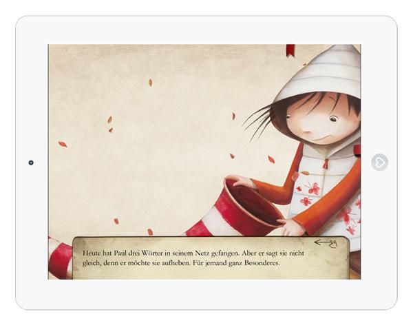 Eine Geschichte über die Sprache: schöne Kinderbuch App