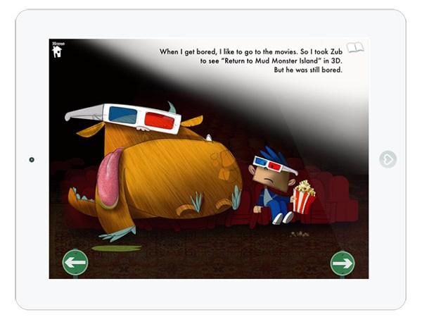 Niedliche Kinderbuch App über kranke Monster