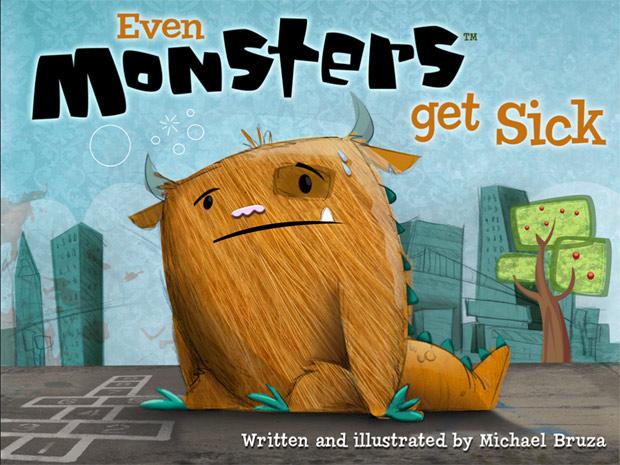 Kinder App über ein krankes Monster