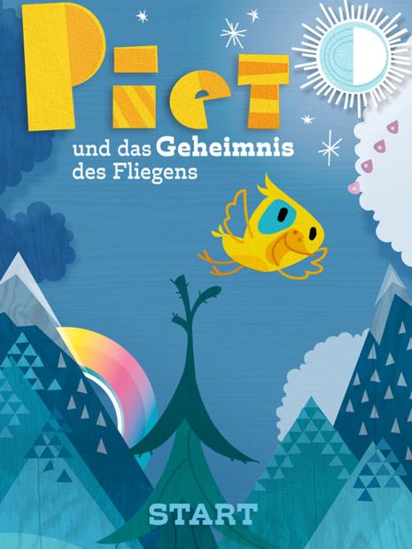 Schöne Kinderbuch-App mit dem kleinen Vogel Piet