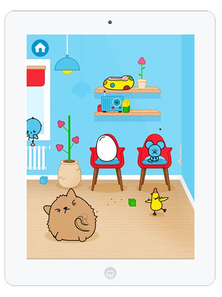 Niedliche Kinder App über den Traumberuf Tierarzt