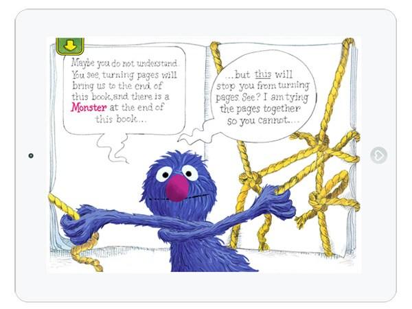 lustige interaktive Kinderbuch App mit Grobi aus der Sesamstraße
