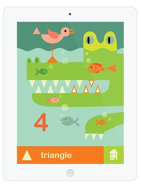 Suchbild App mit Formen