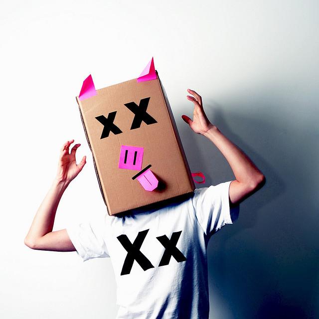 Schwein Karton-Kostüm-Idee
