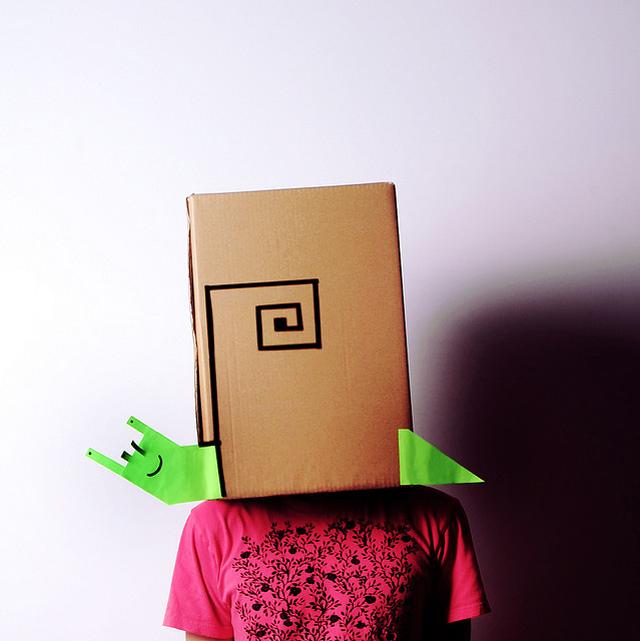 Schnecke Karton-Kostüm-Idee