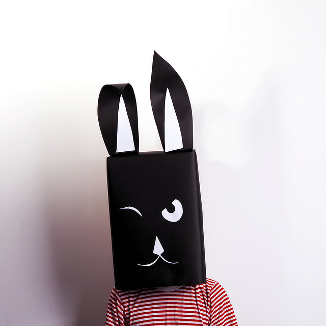 Hase Karton-Kostüm-Idee