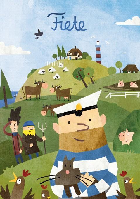 Fiete App Bauernhof-Poster