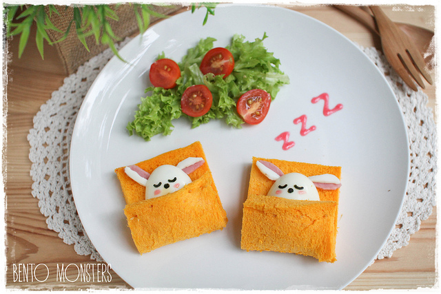 Bento Monsters Häschen Toast
