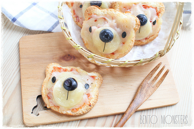 Bento Monsters Bärchen Pizza für Kinder