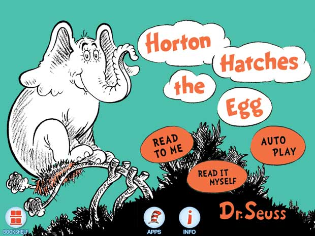 Kinderbuch App von Dr.Seuss über einen Elefanten und ein Ei