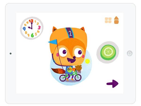 Kinder App über die Uhrzeit