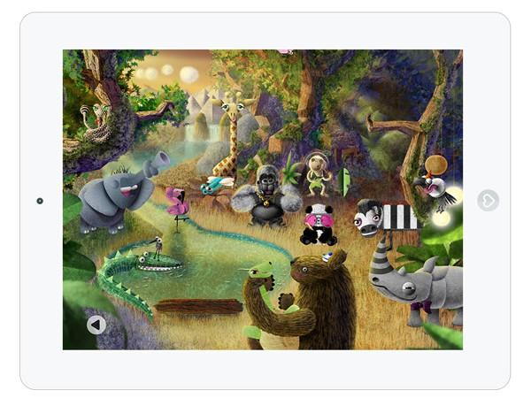 Kinder Musik App mit Dschungeltieren