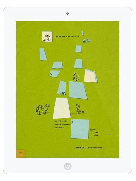 Traurige Kinderbuch App über Einsamkeit