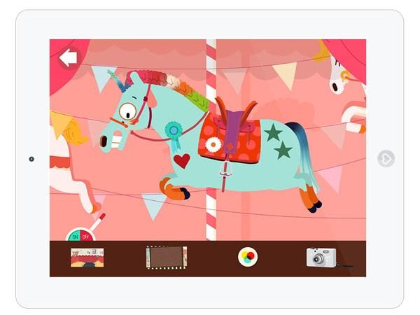 Kinder Spiele App zum Pferde Frisieren